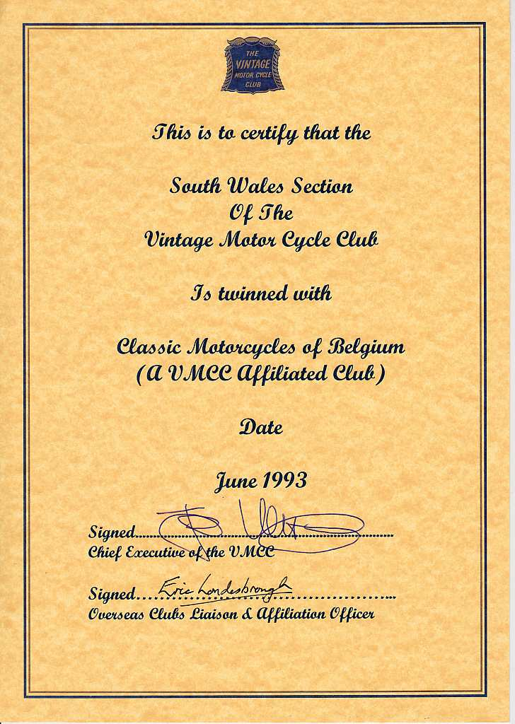 imported motorcycle dating certificate